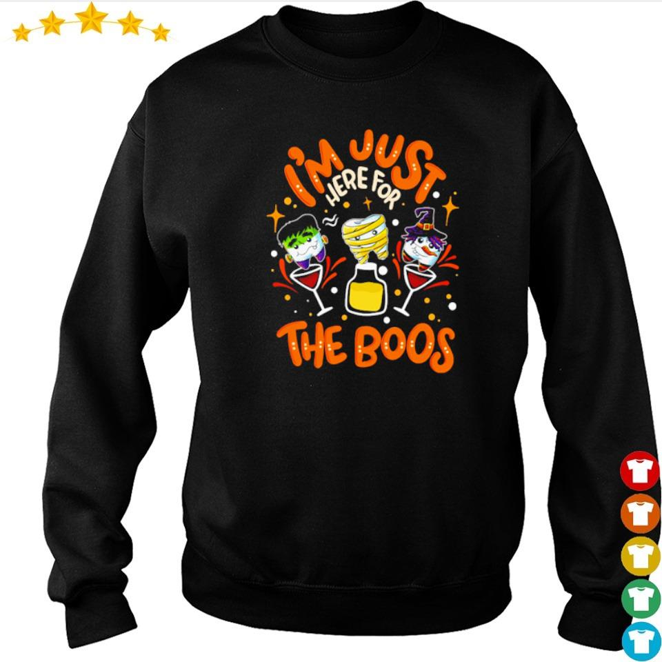 Dental I'm just here for the boos happy Halloween s sweater