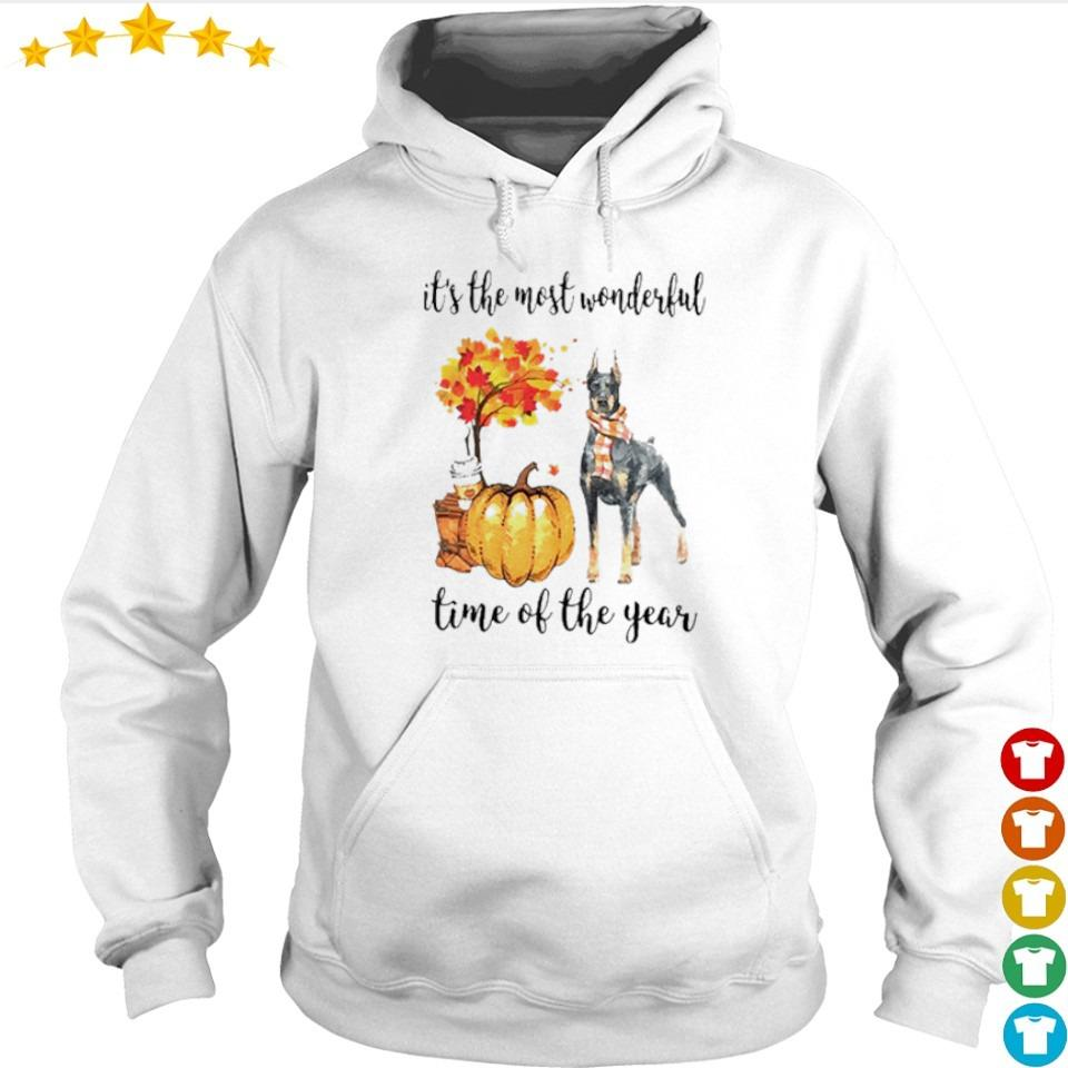 Doberman Fall pumpkin it's the most wonderful time of the year s hoodie