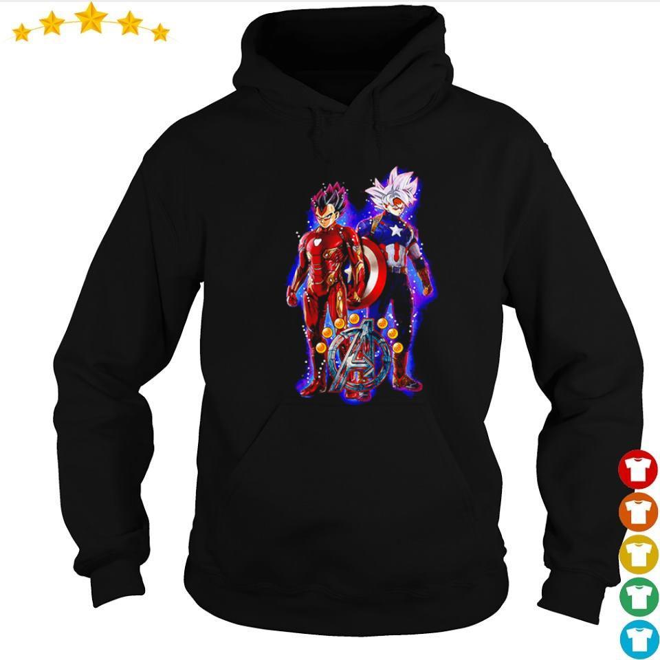 Dragon Ball Avengers Vegeta the Iron Man and Goku the Captain America s hoodie