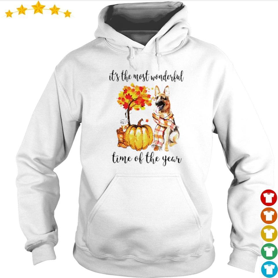 German Shepherd Fall pumpkin it's the most wonderful time of the year s hoodie