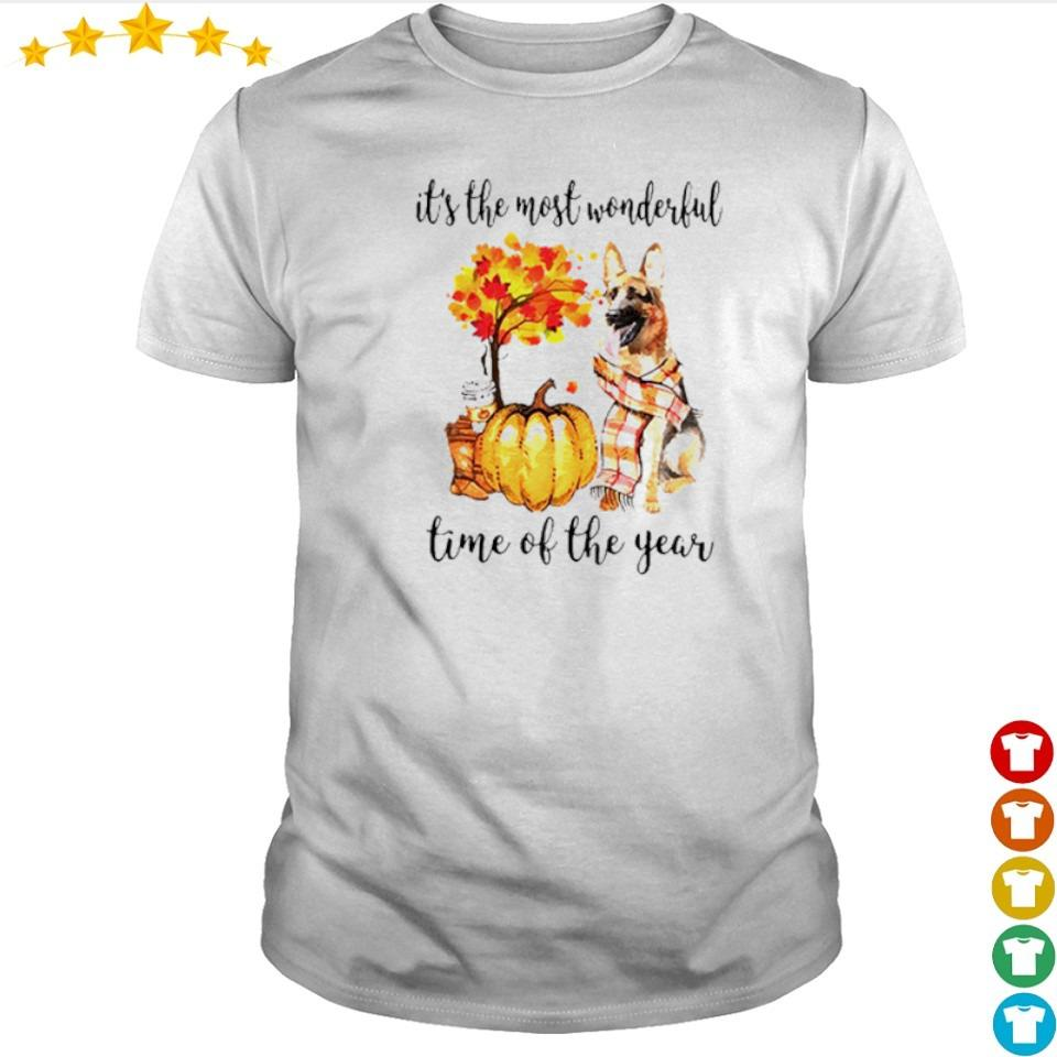 German Shepherd Fall pumpkin it's the most wonderful time of the year shirt