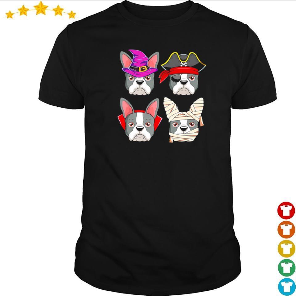 Happy Halloween Boston Terrier costume shirt