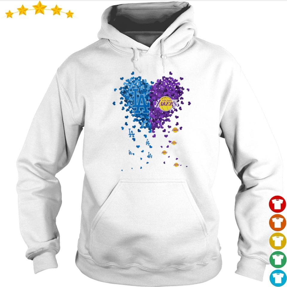 Heart Los Angeles Dodgers vs Los Angeles Lakers s hoodie