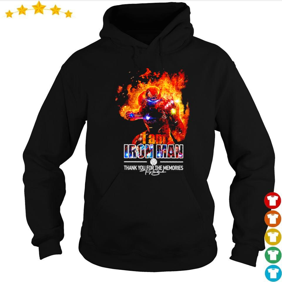 I am Iron Man thank you for the memories signature s hoodie