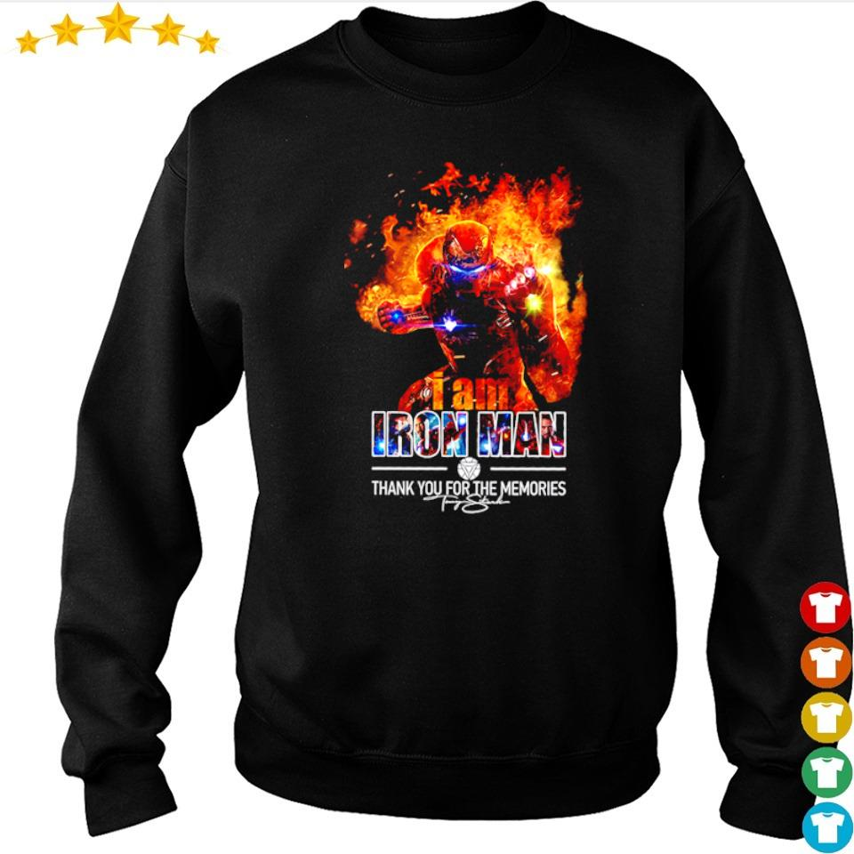 I am Iron Man thank you for the memories signature s sweater