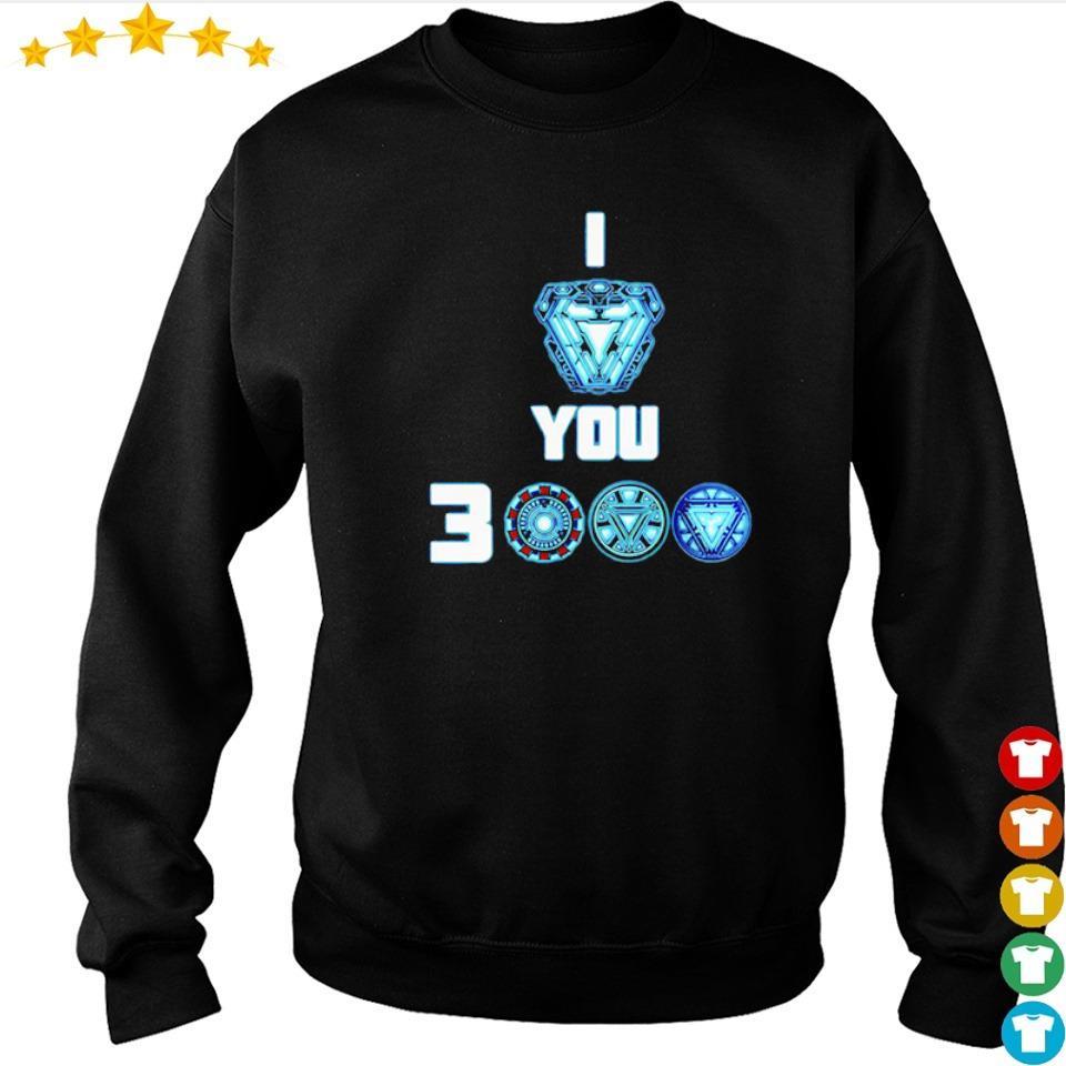 Iron Man arc reactor I love you 3000 s sweater