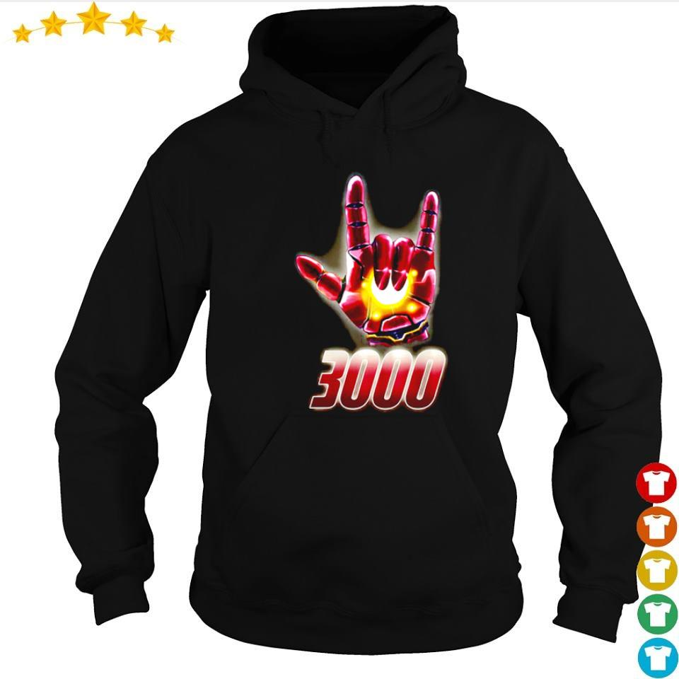 Iron Man I love you 3000 rock n' roll s hoodie