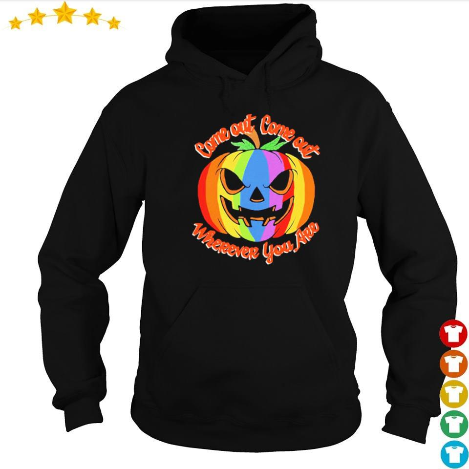 LGBT pumpkin come out come out wherever you are Halloween s hoodie