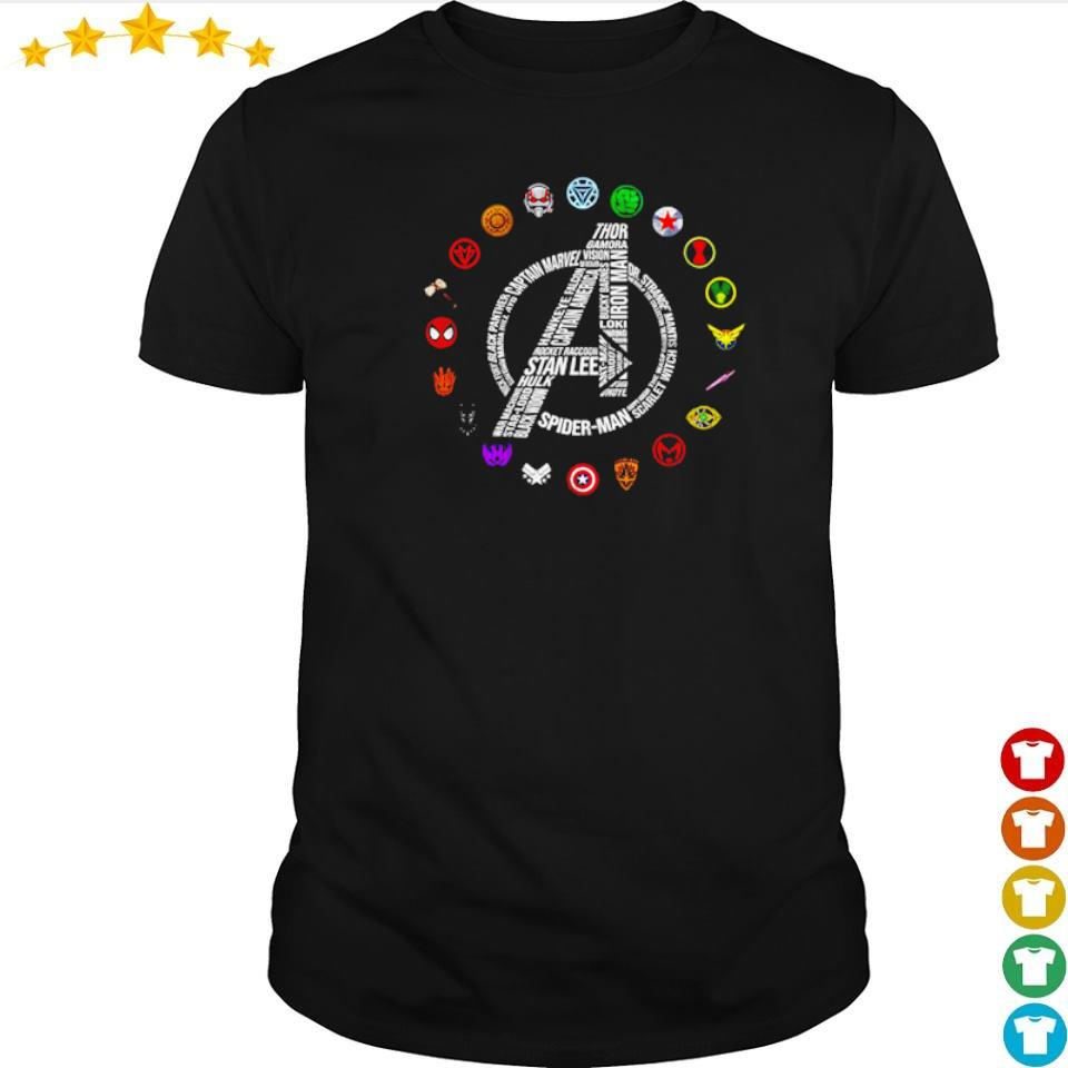 Marvel Studio Avengers RIP Stan Lee and all characters symbol shirt