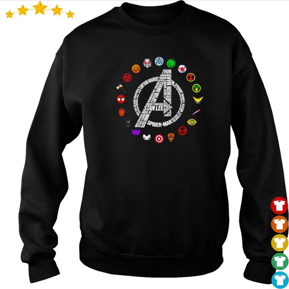 Marvel Studio Avengers RIP Stan Lee and all characters symbol s sweater