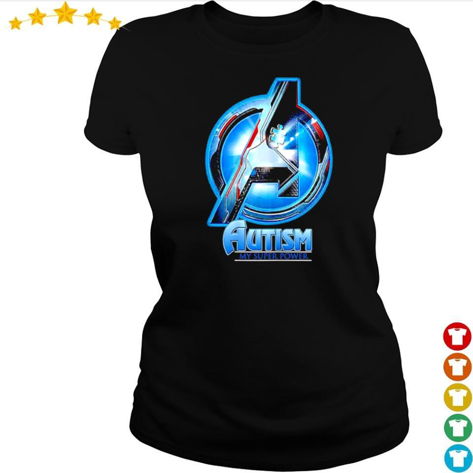 Marvel Studio The Avengers autism awareness my super power s ladies tee