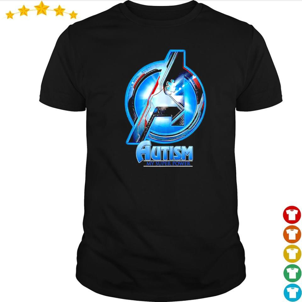 Marvel Studio The Avengers autism awareness my super power shirt