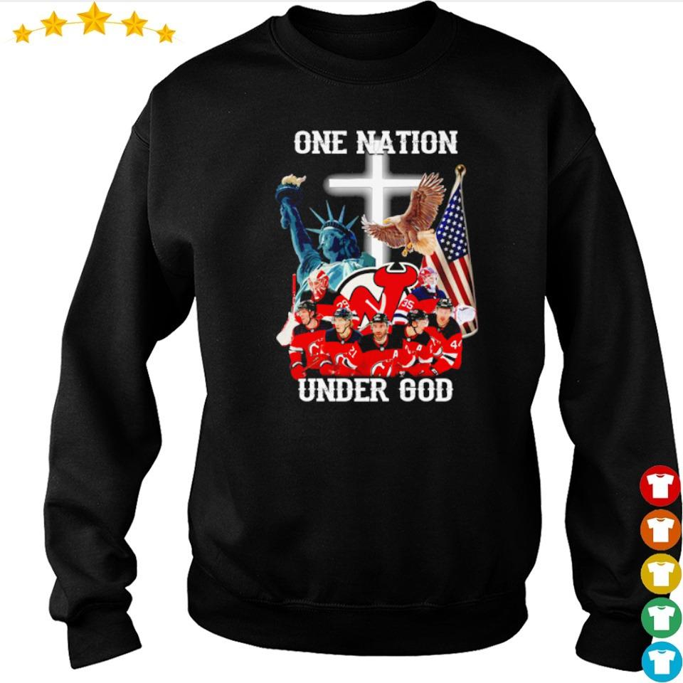 New Jersey Devils one nation under God American Flag s sweater