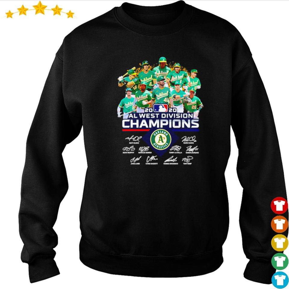 Oakland Athletics 2020 AL west division champions signatures s sweater