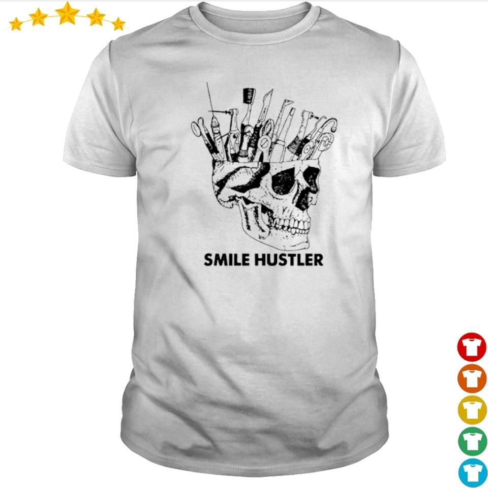 Official broken skull smile hustler shirt