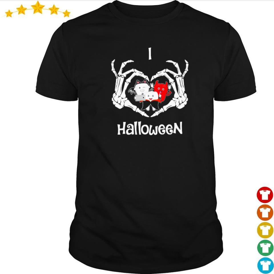 Official dental I love Halloween shirt