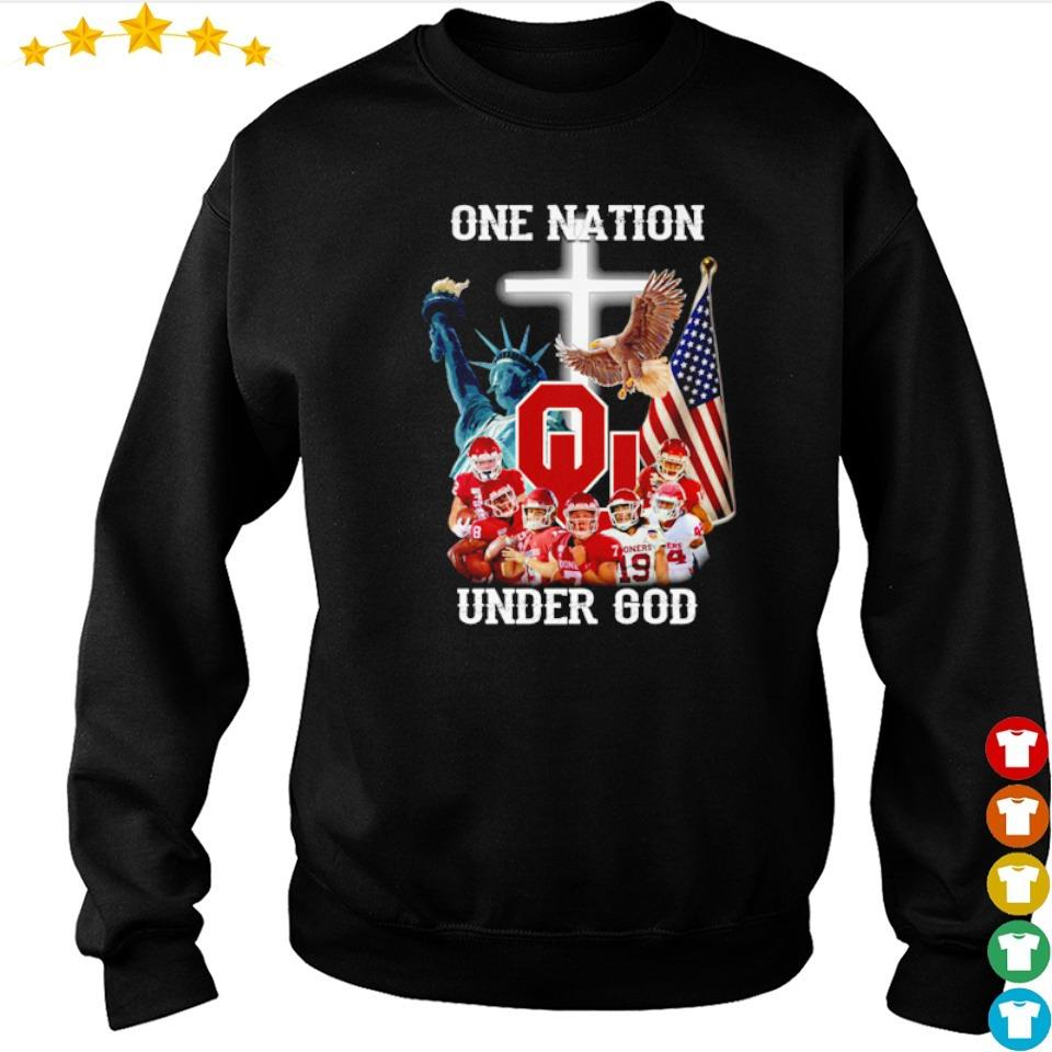 Oklahoma Sooners one nation under God American Flag s sweater