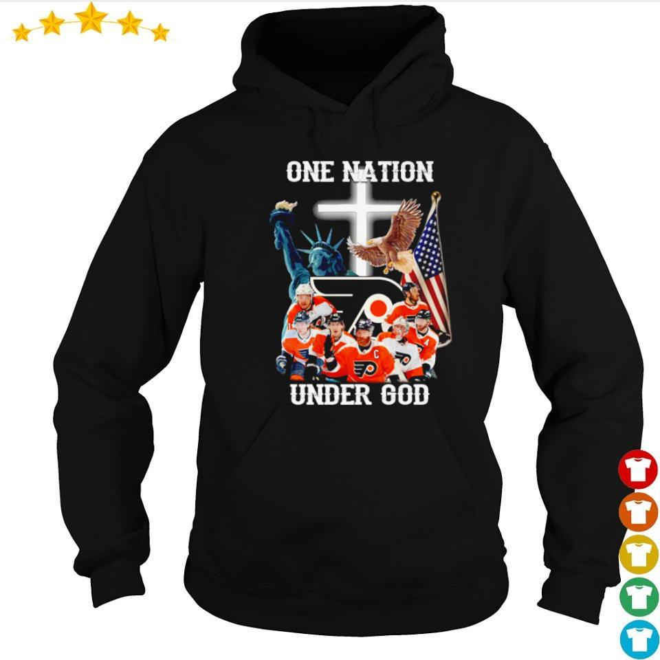 Philadelphia Flyers one nation under God American Flag s hoodie