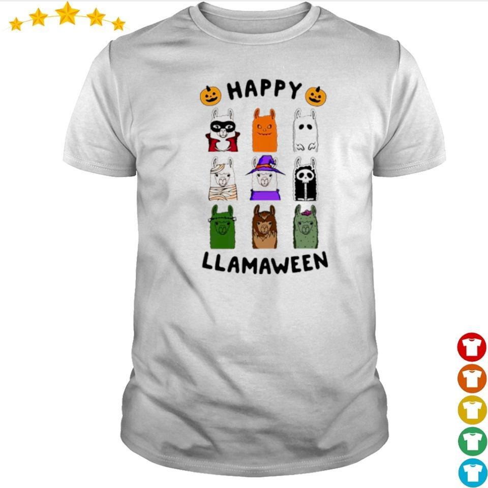 Scary Happy Llamaween Halloween shirt