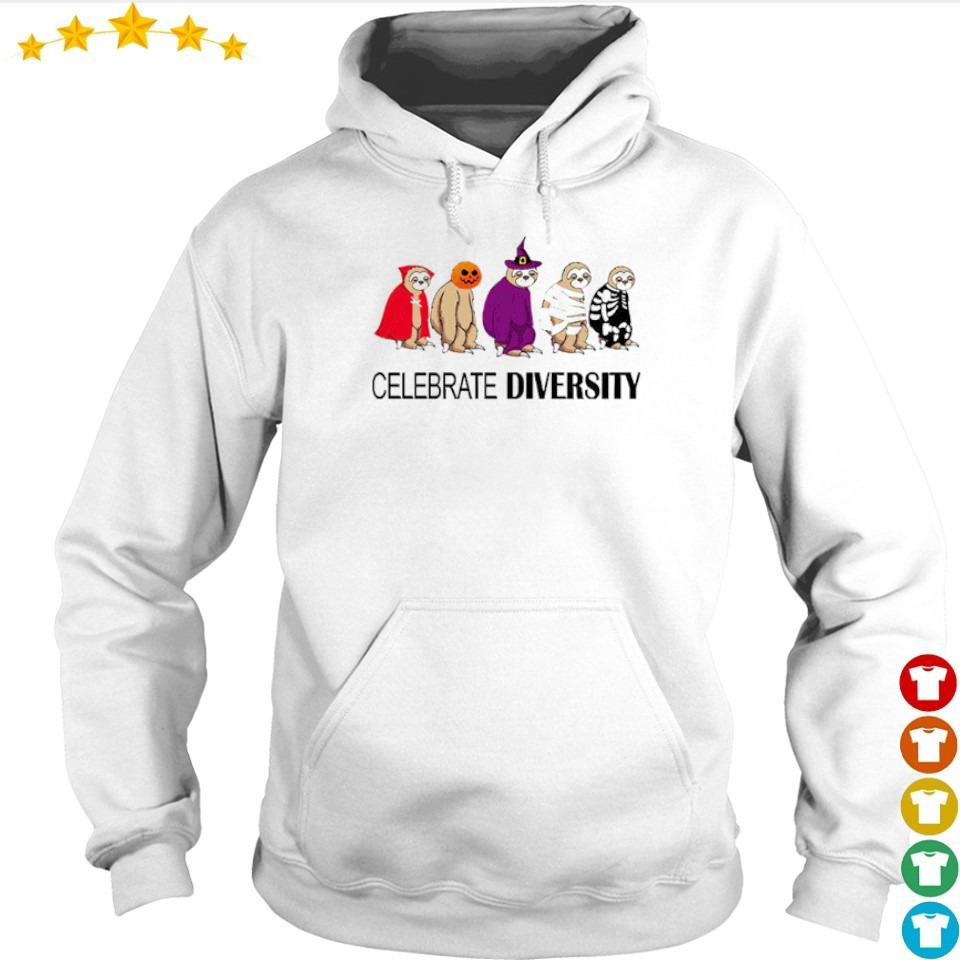 Sloth celebrate diversity Halloween s hoodie