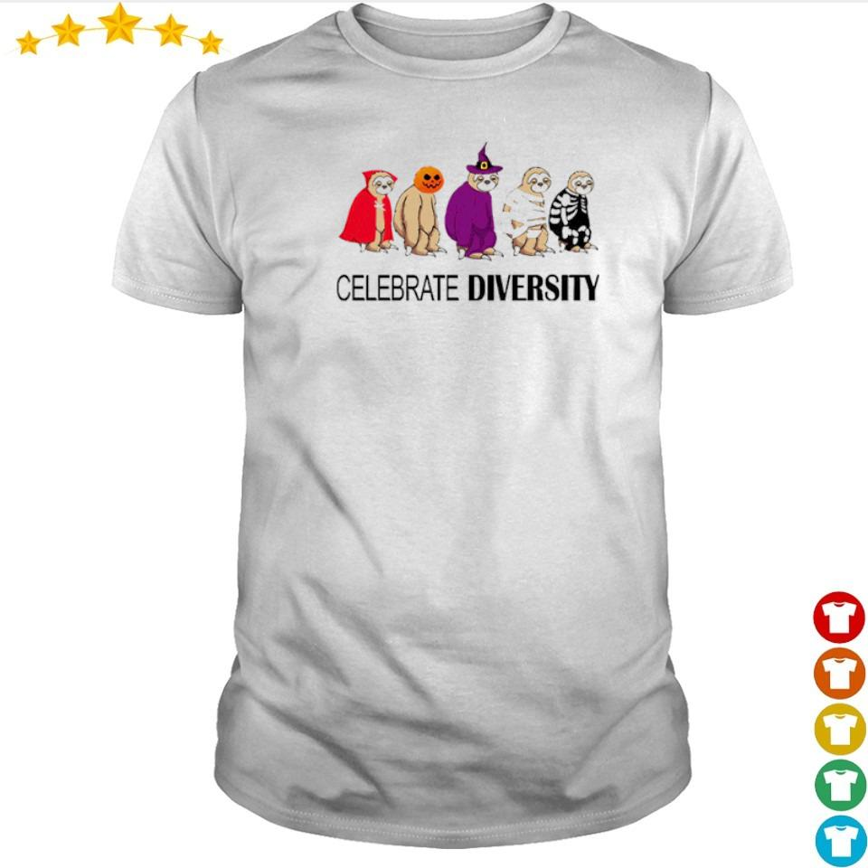Sloth celebrate diversity Halloween shirt
