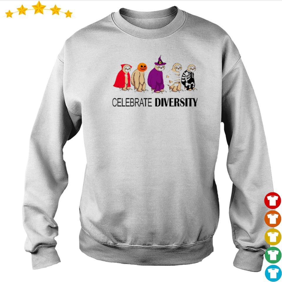 Sloth celebrate diversity Halloween s sweater
