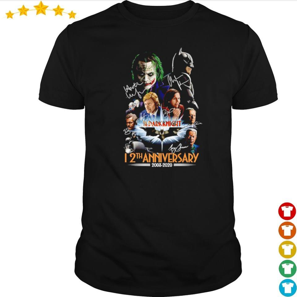 The Dark Knight 12th anniversary 2008 2020 signatures shirt