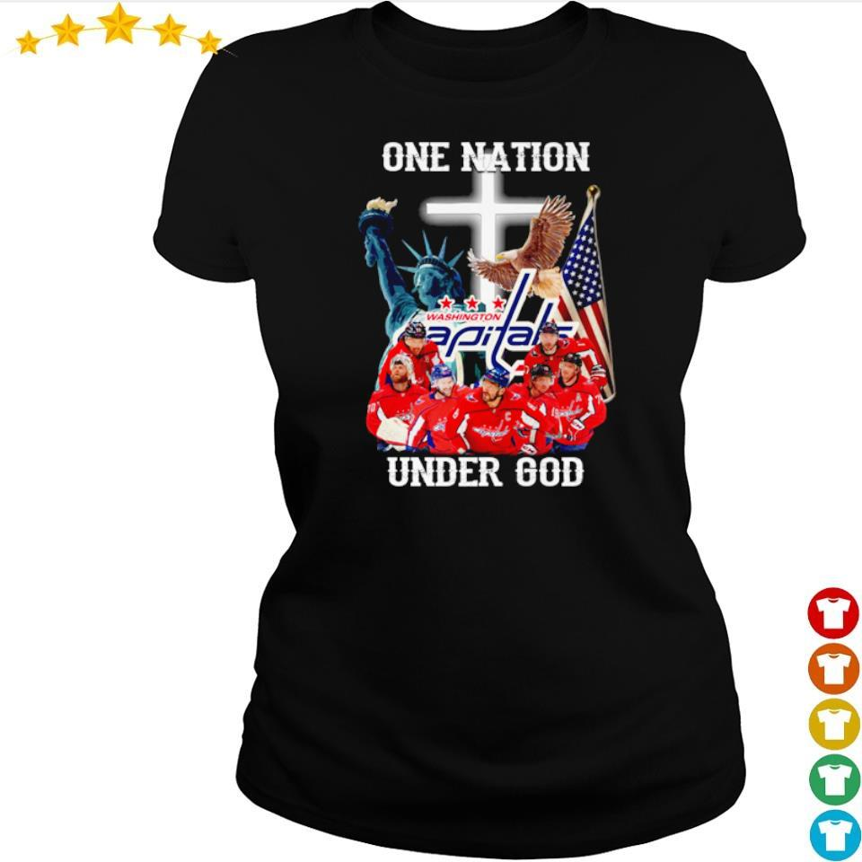 Washington Capitals one nation under God American Flag s ladies tee