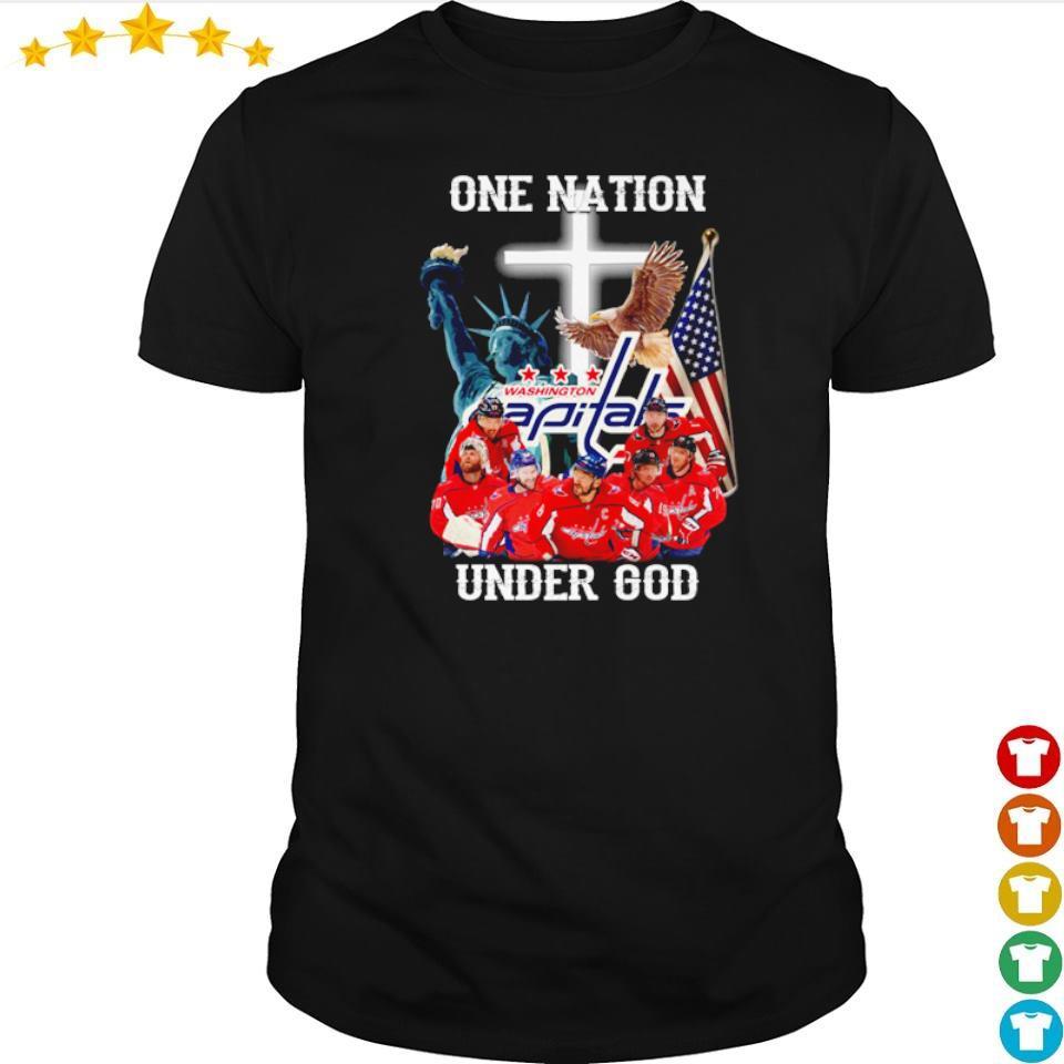 Washington Capitals one nation under God American Flag shirt