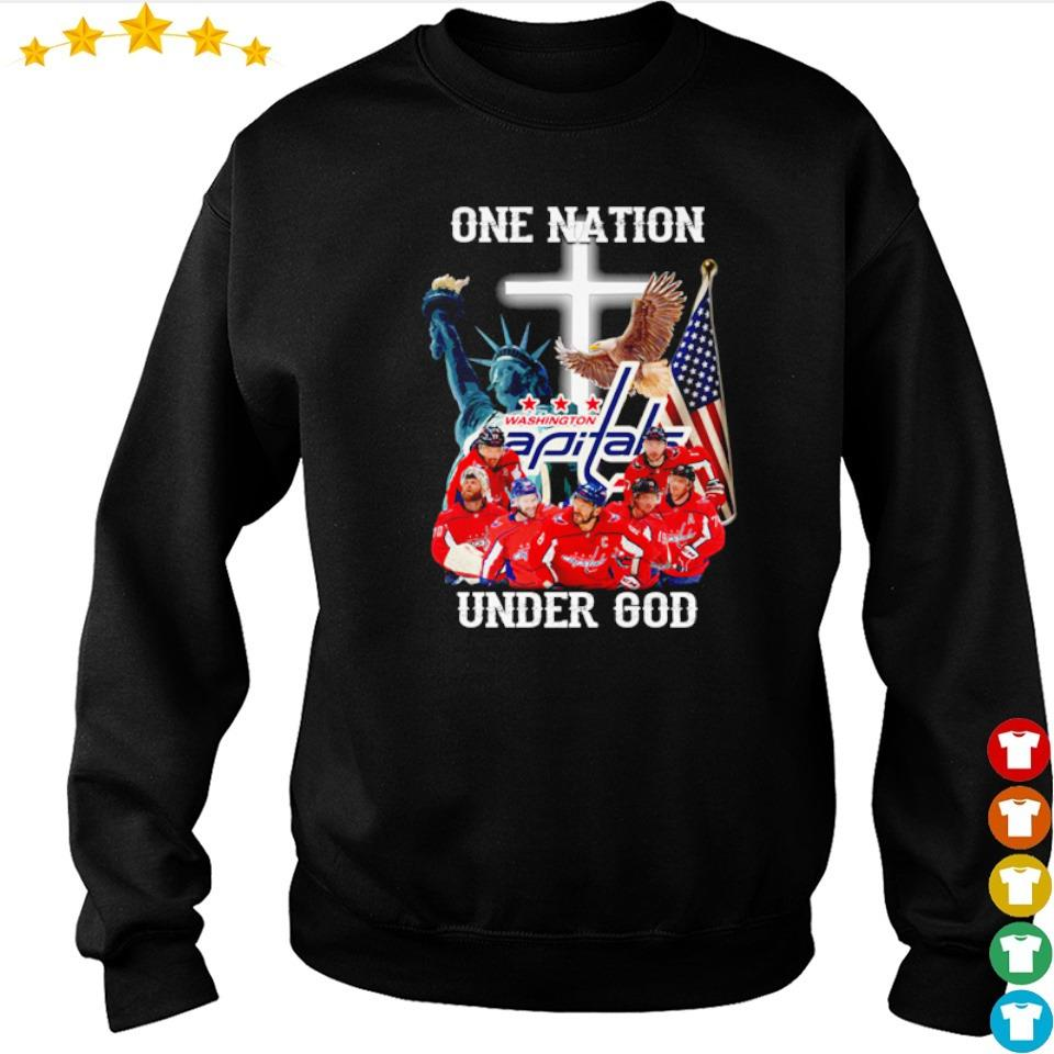 Washington Capitals one nation under God American Flag s sweater