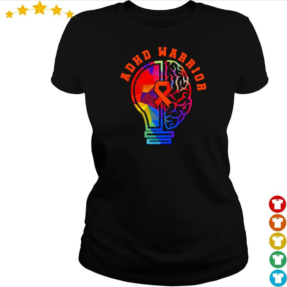 ADHD fights attention deficit warrior s ladies tee