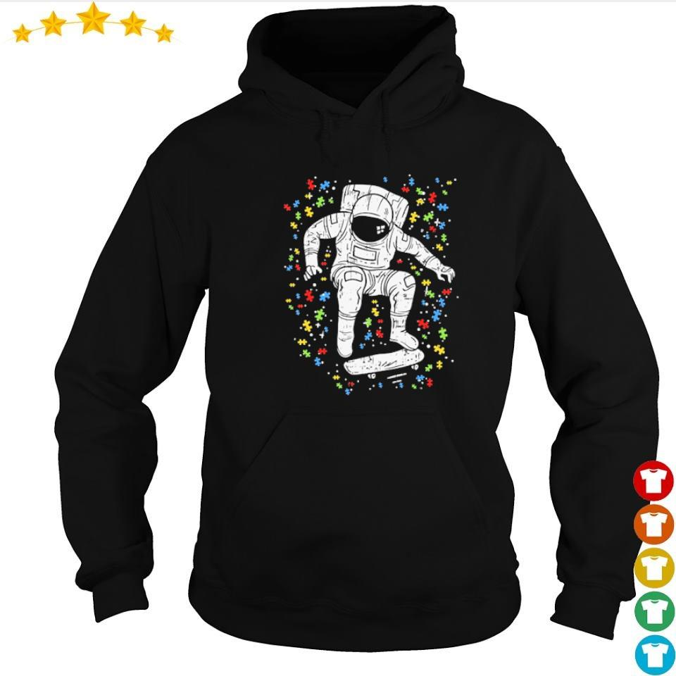 Autism awareness astronaut skateboard s hoodie