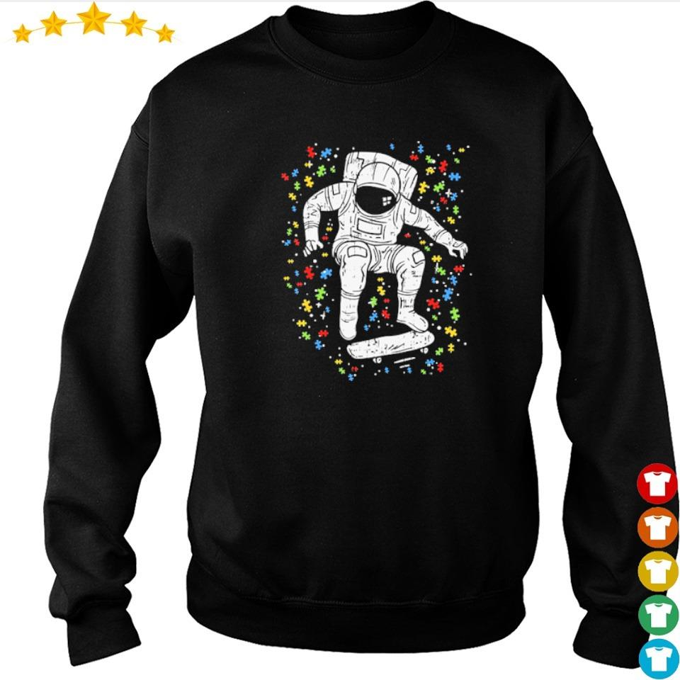 Autism awareness astronaut skateboard s sweater