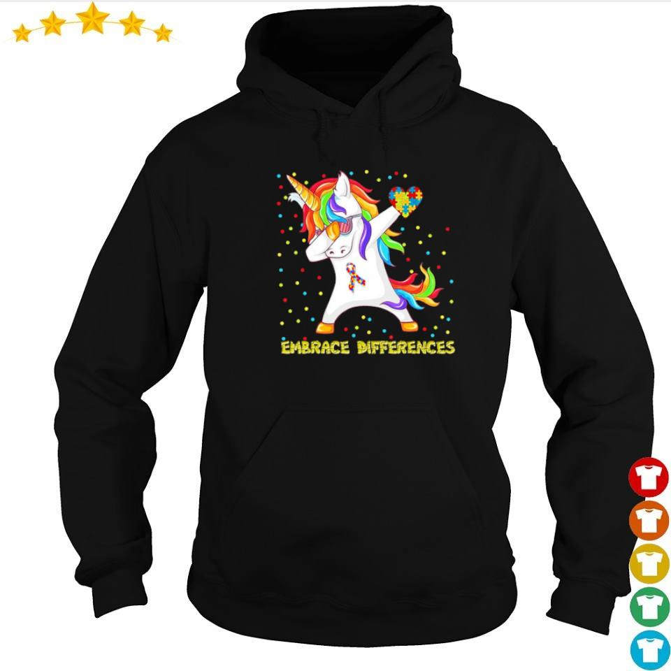 Autism awareness unicorn dabbing embrace differences s hoodie