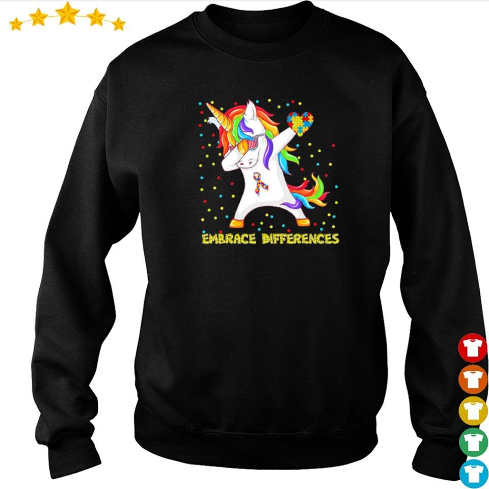 Autism awareness unicorn dabbing embrace differences s sweater