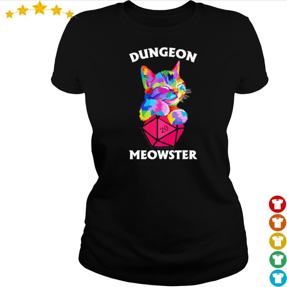 Awesome dungeon cat meowster s ladies tee