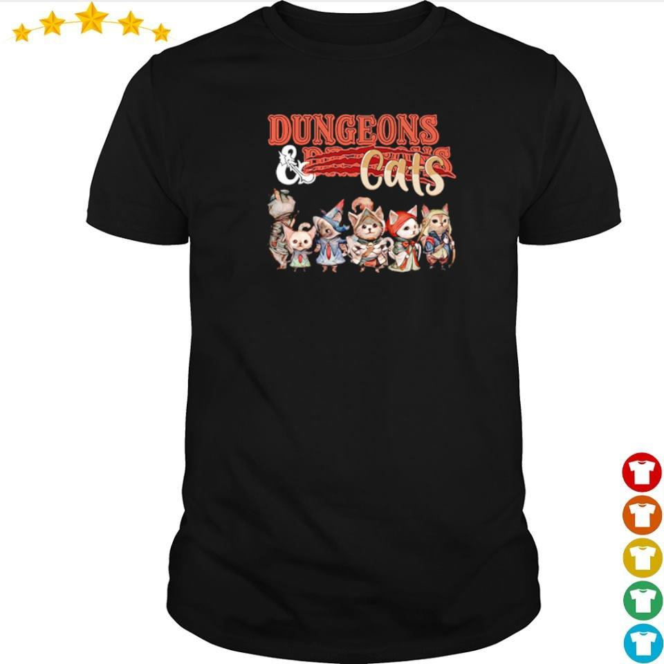 Awesome dungeons and dragons cats shirt