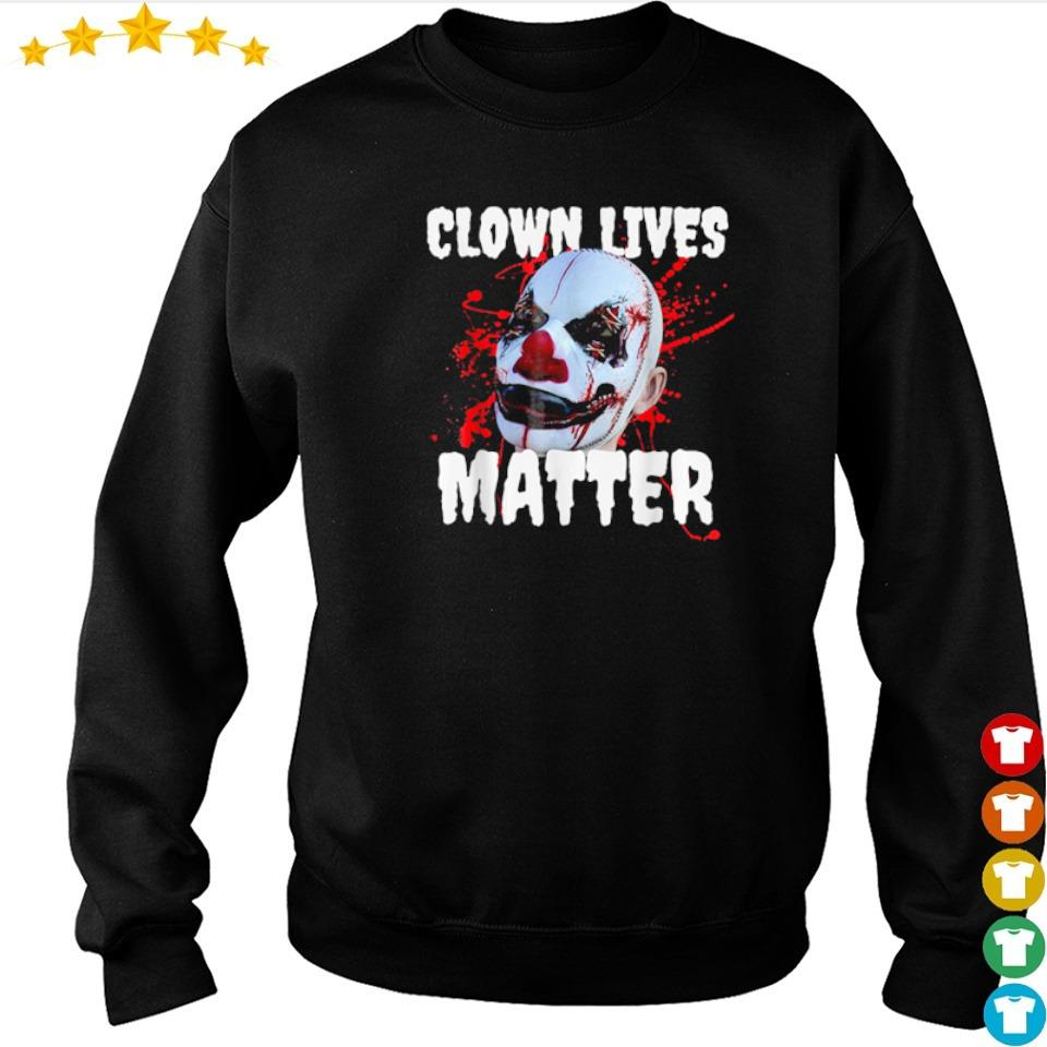 Clown lives matter happy Halloween s sweater