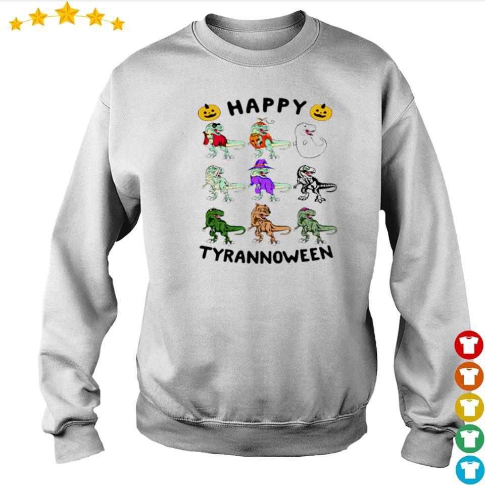 Dinosaur happy Tyrannoween Halloween s sweater