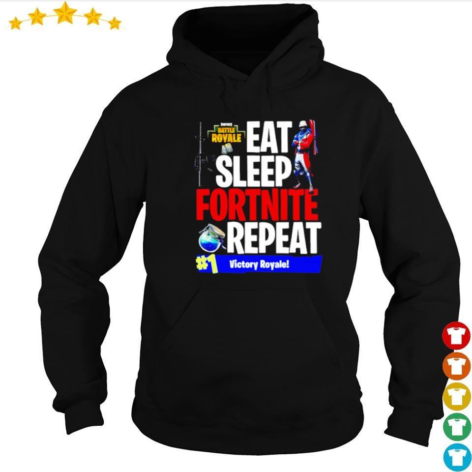 Eat sleep fortnite repeat #1 victory royale s hoodie