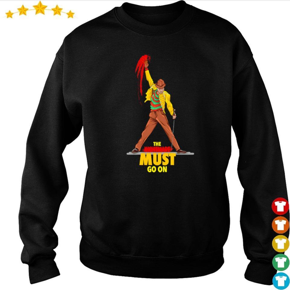 Freddy Krueger Freddie Mercury the nightmare must go on s sweater