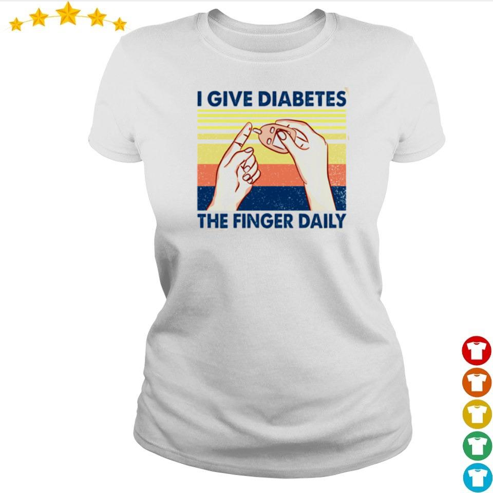 I give diabetes the finger daily vintage s ladies