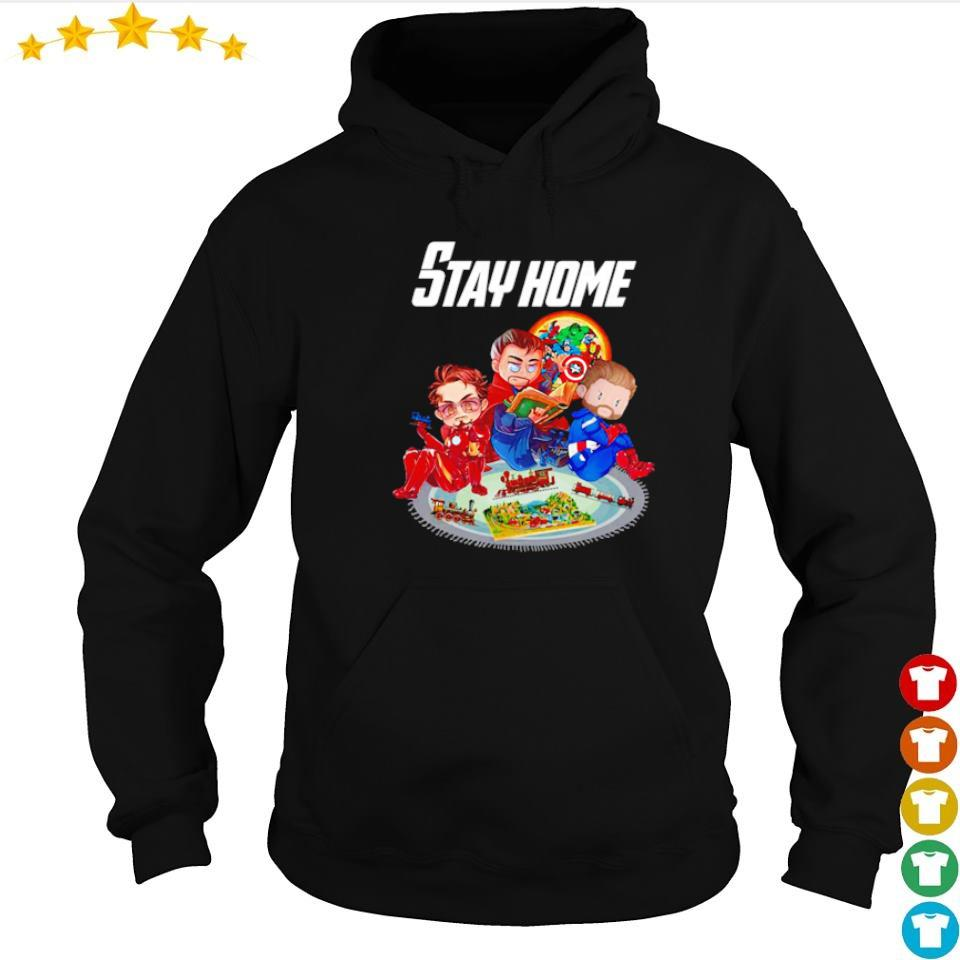 Iron Man Doctor Strange and Captain America stay home s hoodie