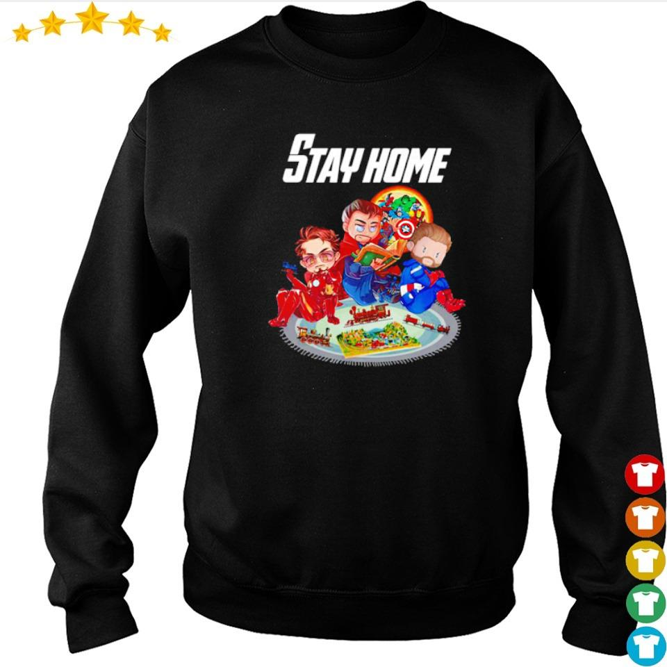 Iron Man Doctor Strange and Captain America stay home s sweater