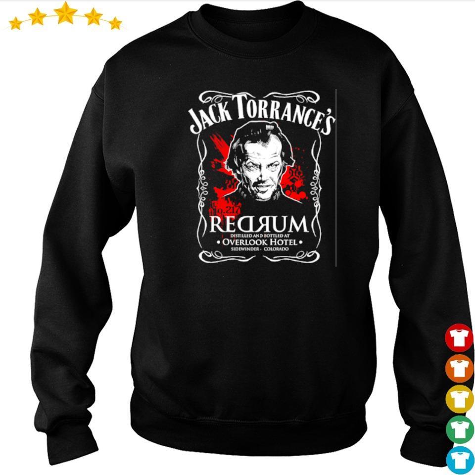 Jack Torrance's redrum distilled bottle at Overlock Hotel s sweater