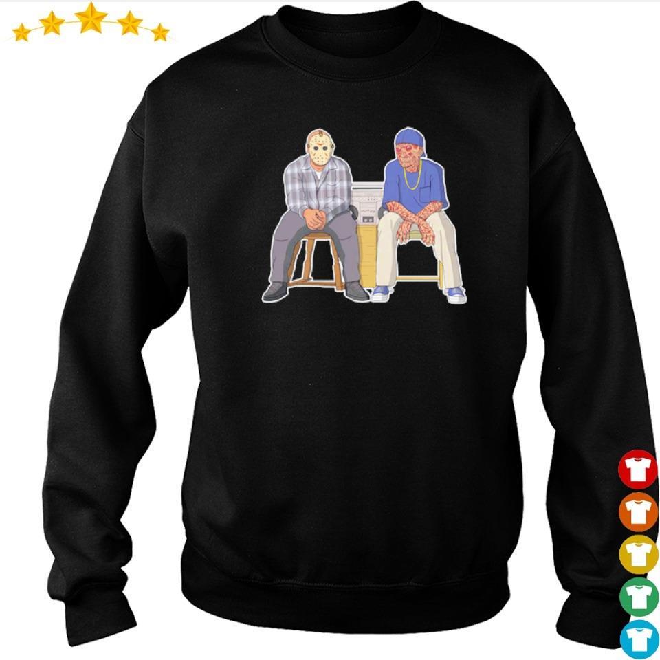Jason Voorhees and Freddy Krueger swag s sweater