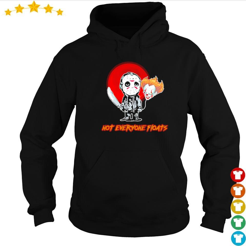 Jason Voorhees and Pennywise head balloon not everyone floats s hoodie