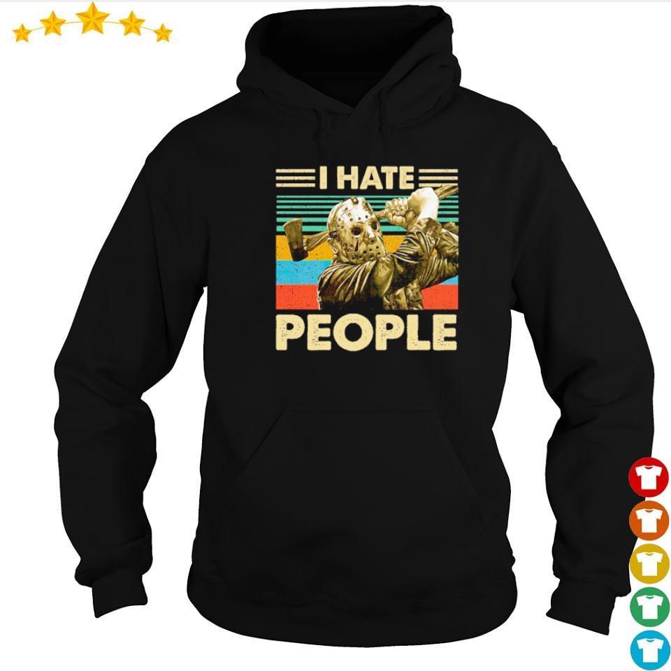 Jason Voorhees I hate people vintage s hoodie