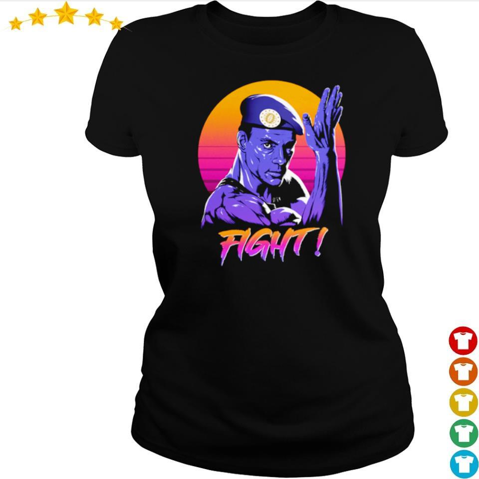 Jean Claude Van Damme fight retro sun s ladies tee