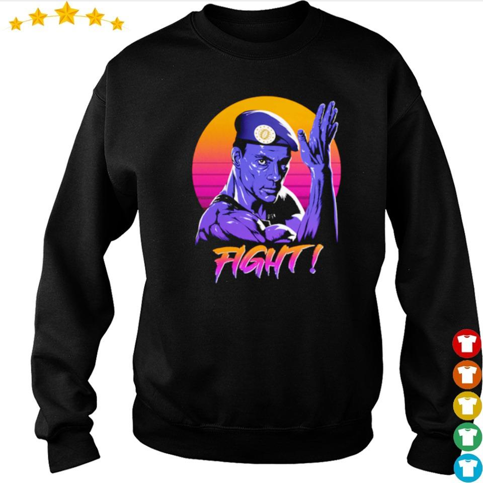 Jean Claude Van Damme fight retro sun s sweater